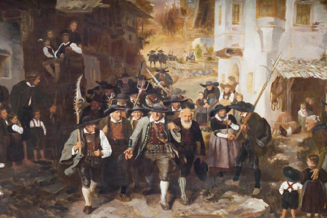 """Franz von Defregger """"The Last Bid"""" Oil On Board - 2"""