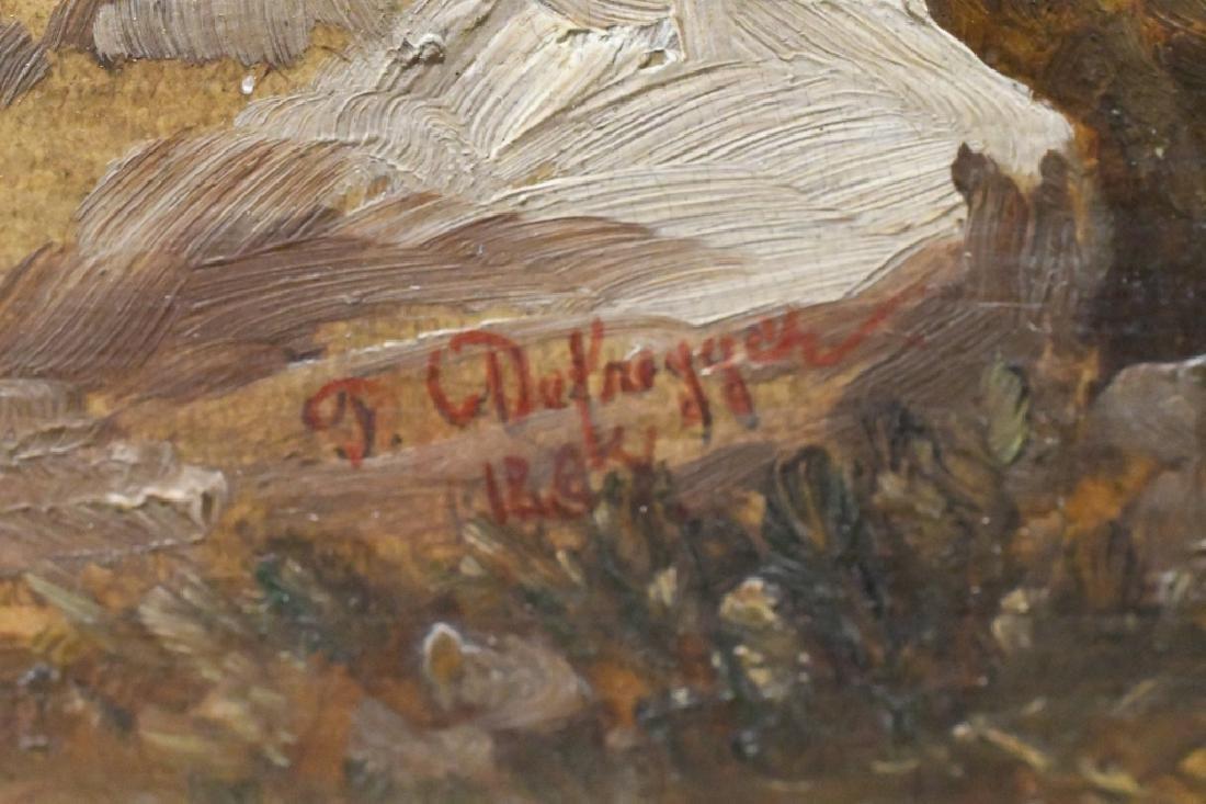 """Franz von Defregger """"The Last Bid"""" Oil On Board - 3"""