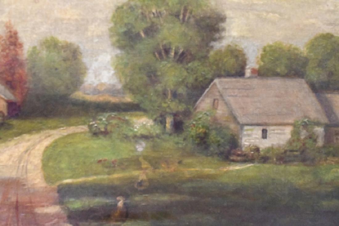19th Century Farm Oil On Canvas - 2