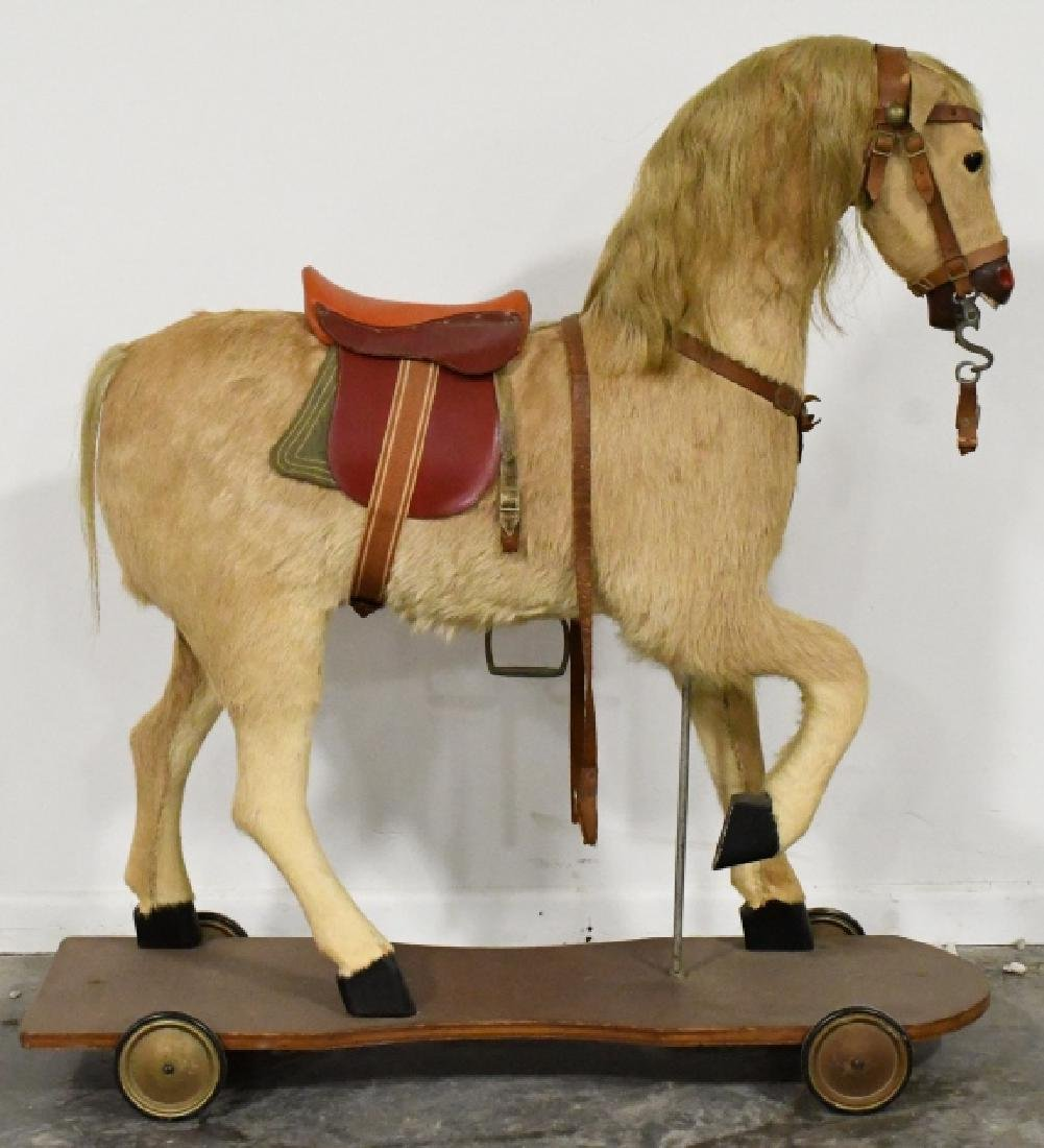 Nickolaus Klein Hand-Crafted Large Pull-Toy Horse