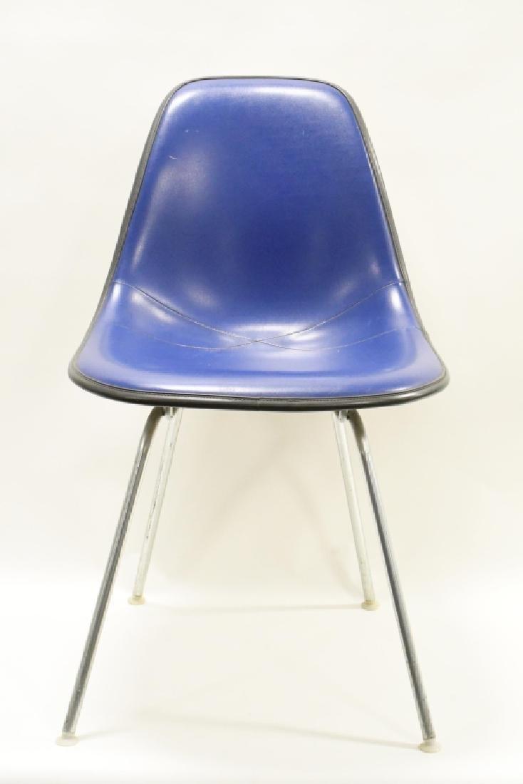 Mid-Century Herman Miller Blue Upholstered Chair