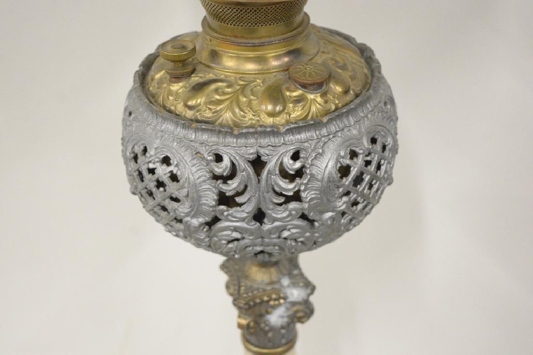Antique Electrified Banquet Oil Lamp - 3