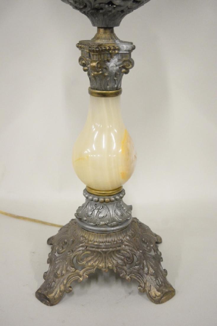 Antique Electrified Banquet Oil Lamp - 4