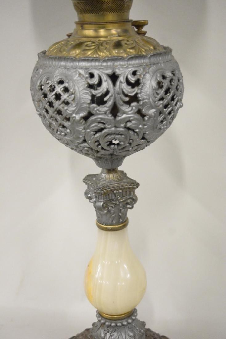 Antique Electrified Banquet Oil Lamp - 6