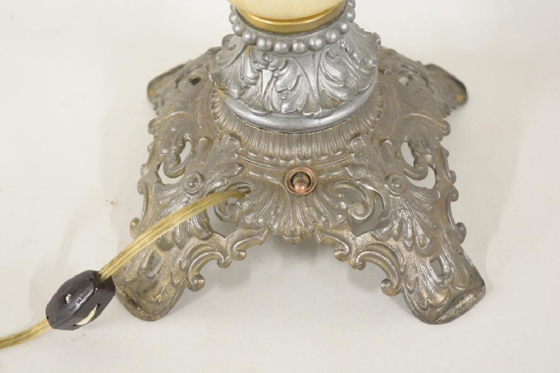 Antique Electrified Banquet Oil Lamp - 7