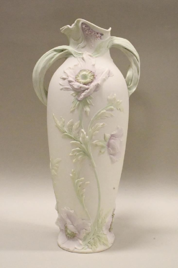 Royal Dux Young Woman Playing Triangle Vase - 3
