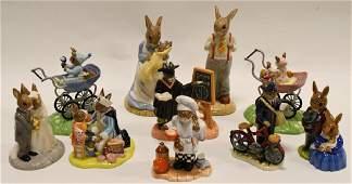 Lot Of 10 Royal Doulton Bunnykins Figurines