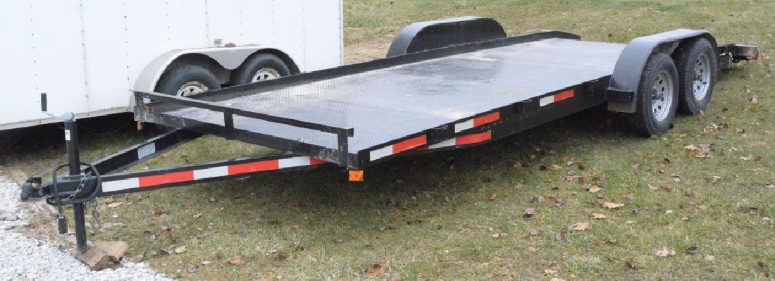 2018 P&T Tandem Axle 18' Steel Car Trailer