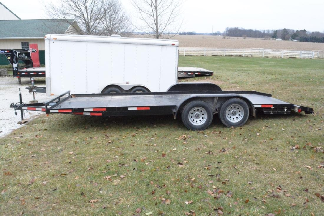 2018 P&T Tandem Axle 18' Steel Car Trailer - 2