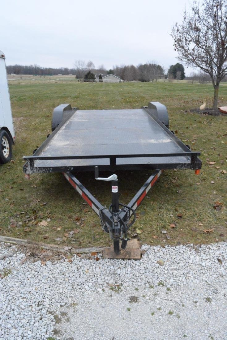 2018 P&T Tandem Axle 18' Steel Car Trailer - 3
