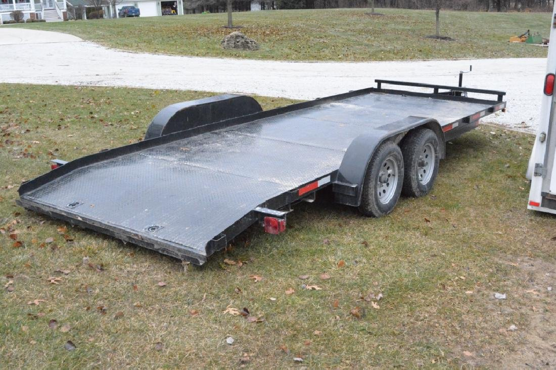 2018 P&T Tandem Axle 18' Steel Car Trailer - 4