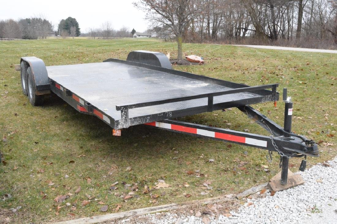 2018 P&T Tandem Axle 18' Steel Car Trailer - 7