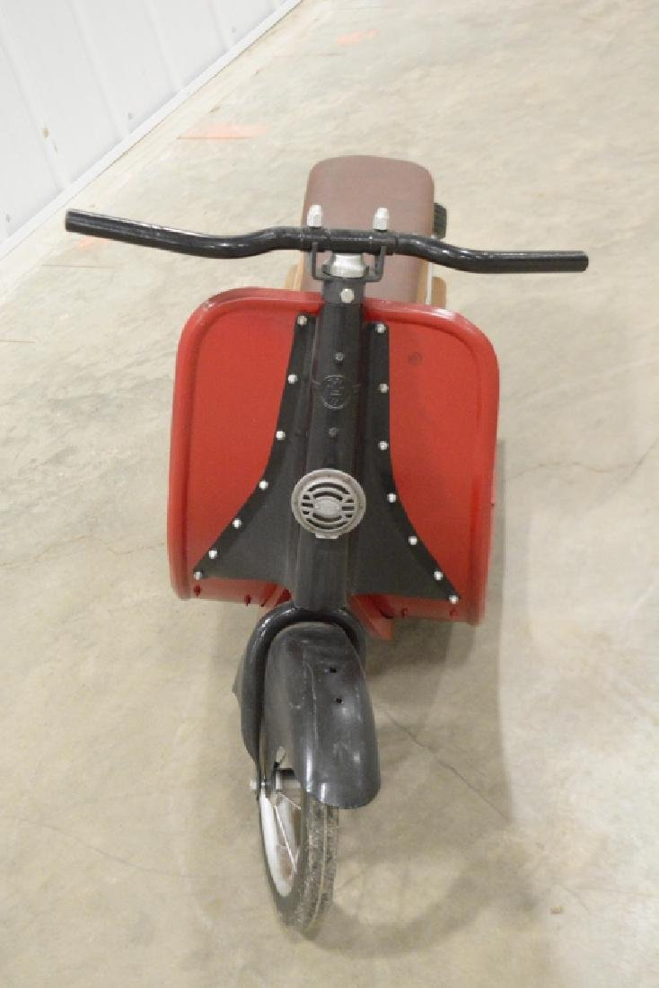 Custom Wood & Metal Vespa Style Ride Toy Scooter - 2
