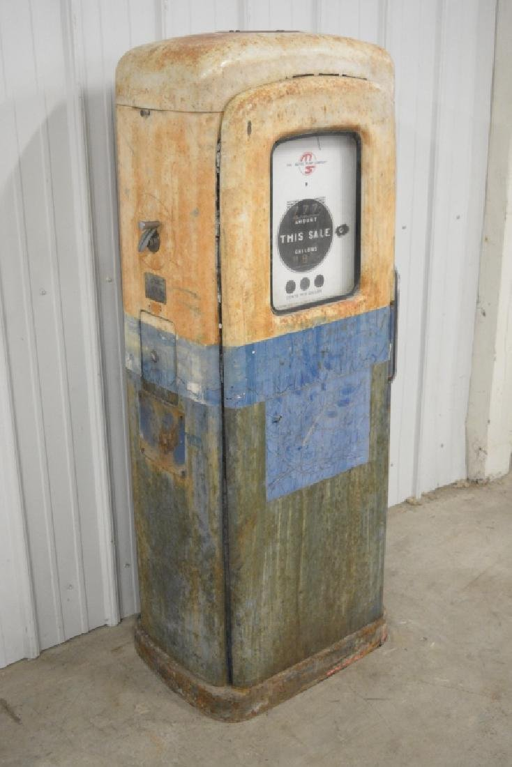 Unrestored Wayne Martin & Schwartz #80 Gas Pump - 3