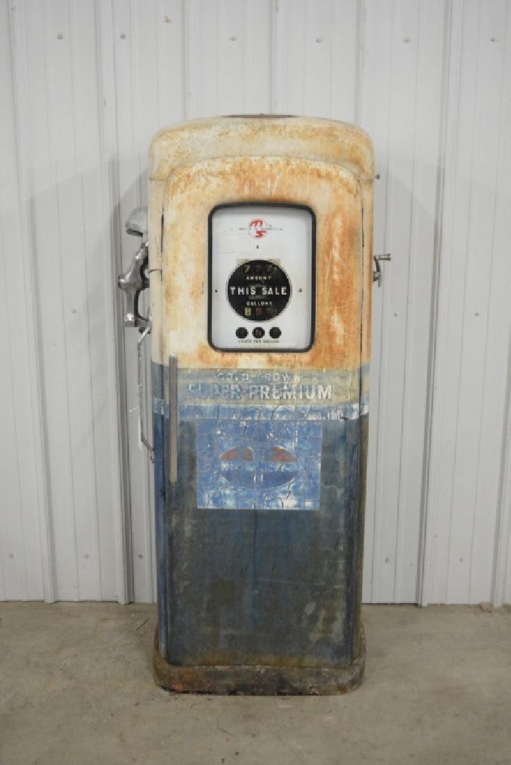 Unrestored Wayne Martin & Schwartz #80 Gas Pump - 6