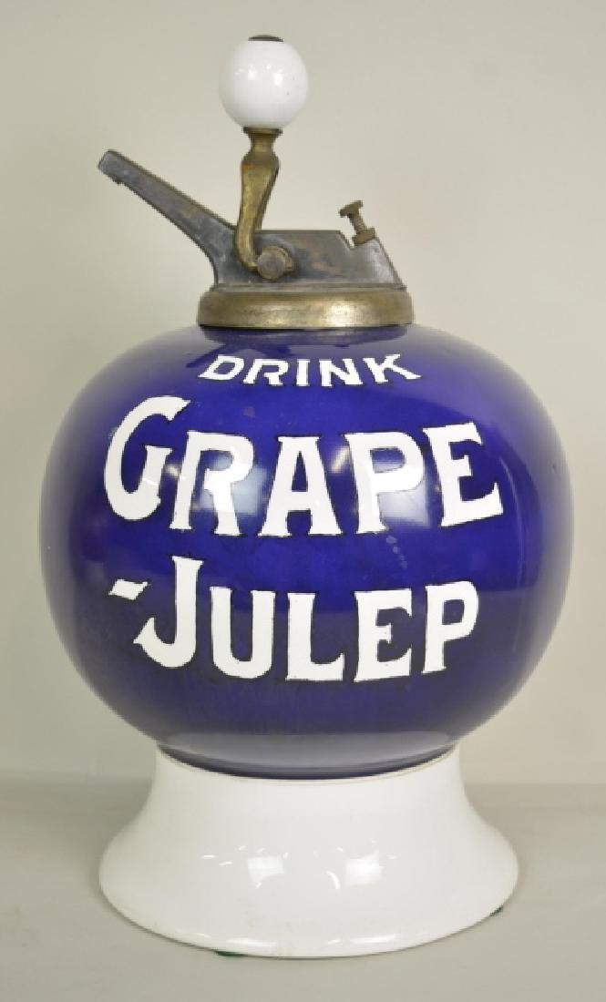 Vintage Grape Julep Soda Fountain Syrup Dispenser