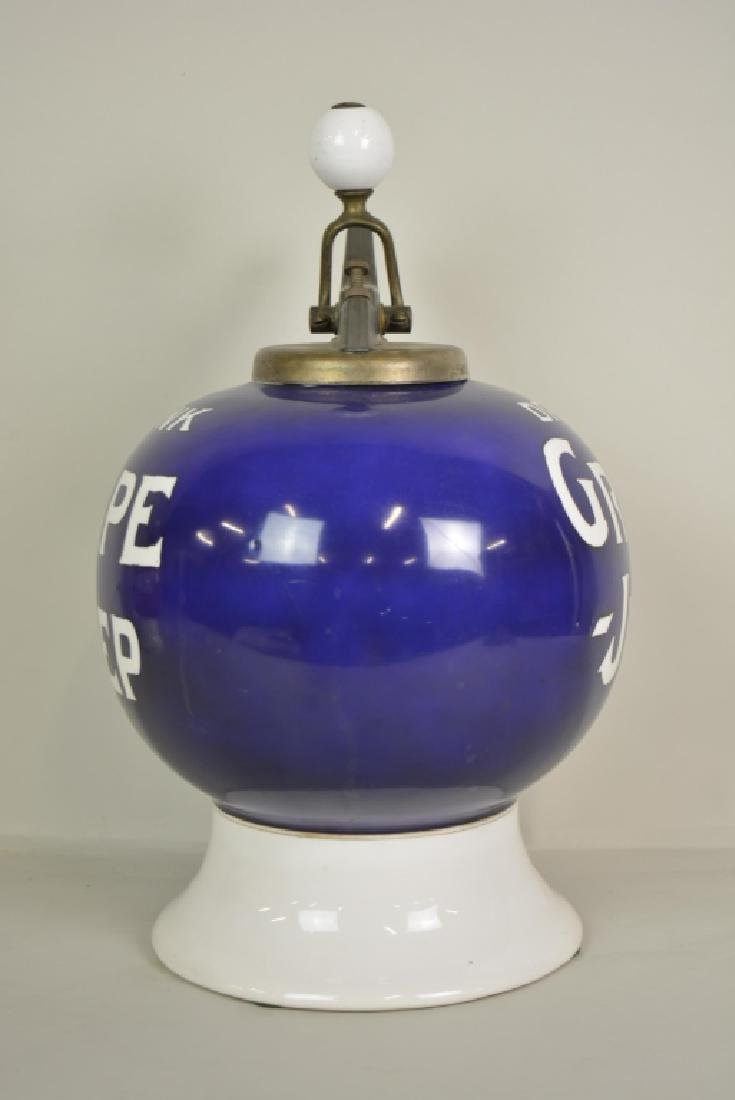 Vintage Grape Julep Soda Fountain Syrup Dispenser - 2