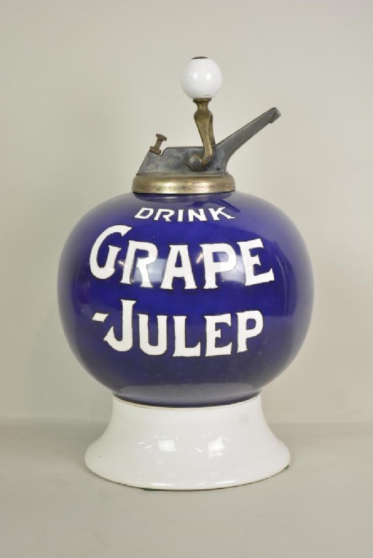 Vintage Grape Julep Soda Fountain Syrup Dispenser - 3