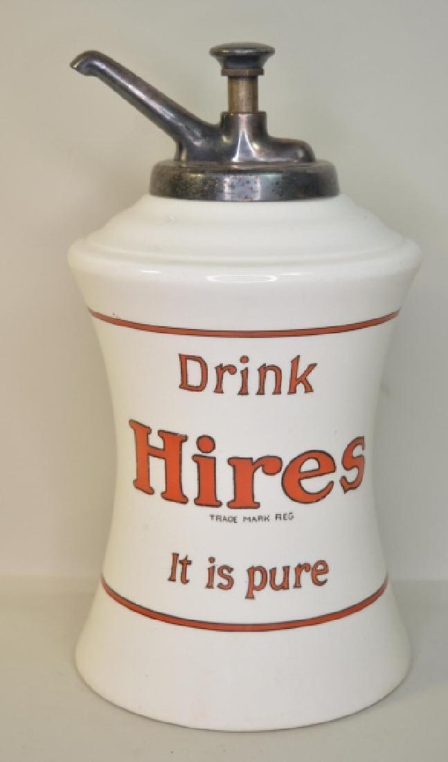 Vintage Hires Root Beer Ceramic Syrup Dispenser