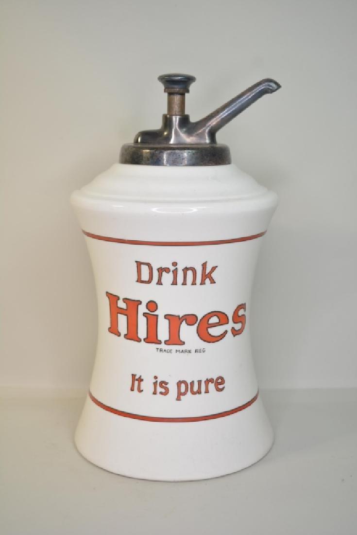 Vintage Hires Root Beer Ceramic Syrup Dispenser - 3