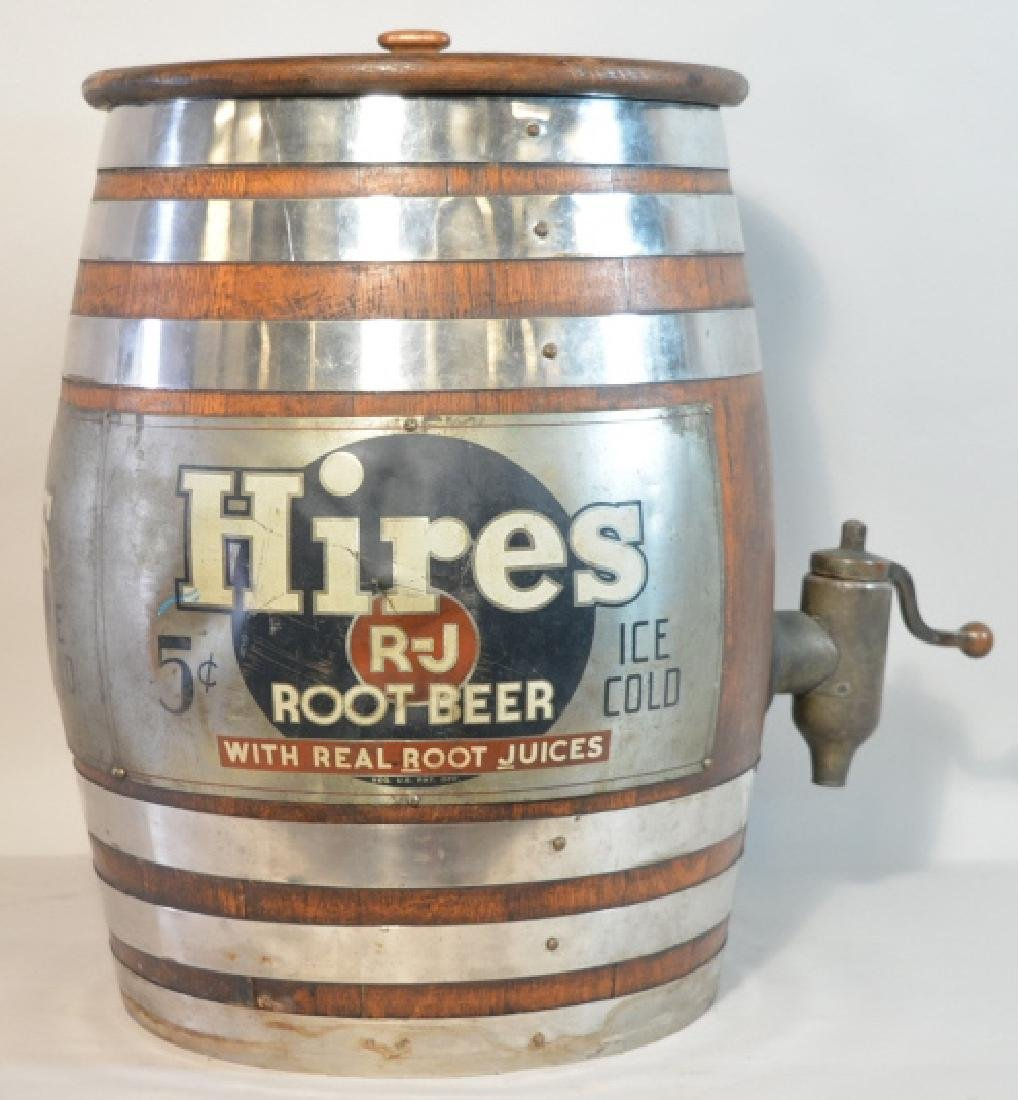 Vintage Hires Root Beer Keg Barrel Dispenser