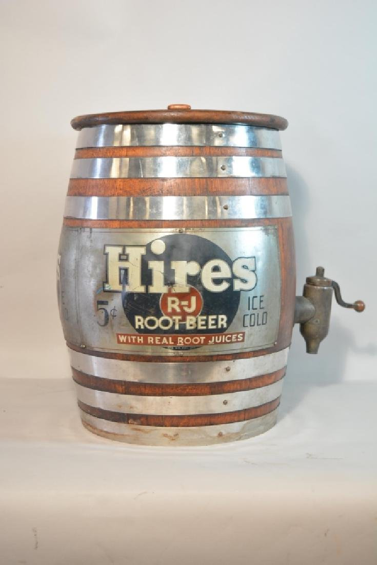 Vintage Hires Root Beer Keg Barrel Dispenser - 2