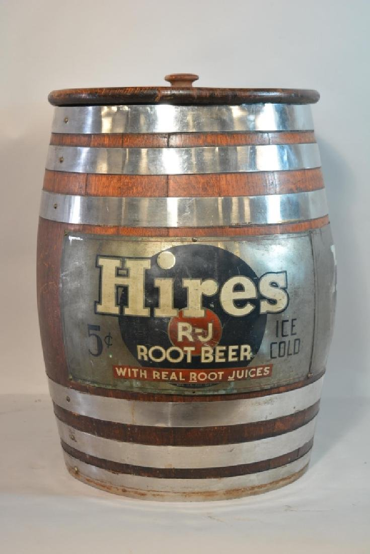 Vintage Hires Root Beer Keg Barrel Dispenser - 3