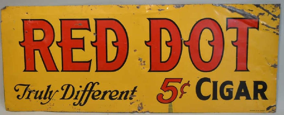 DST Red Dot Cigar Advertising Sign