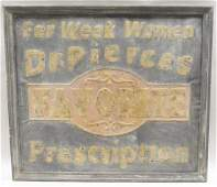 Early Dr Pierces Self Framing Advertising Sign