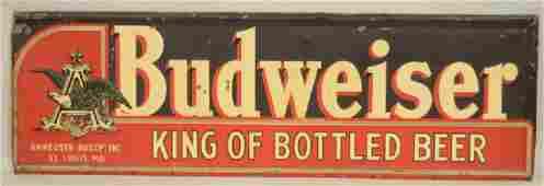 SST Budweiser Beer Embossed Advertising Sign