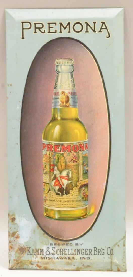Premona Tin Beer Sign - Mishawaka,IN