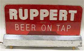 Ruppert Beer on Tap Lightup Sign