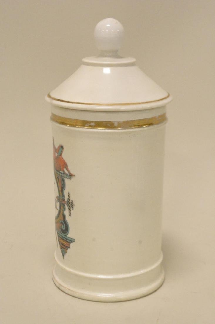 Porcelain Apothecary Jar with LId - 2