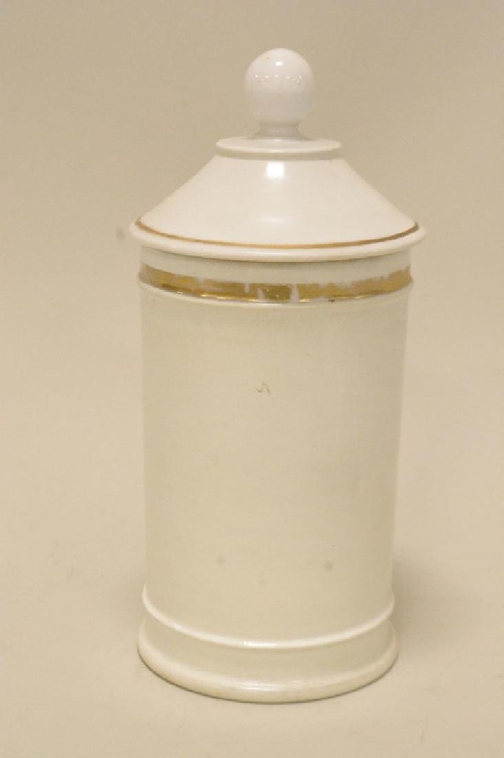 Porcelain Apothecary Jar with LId - 3