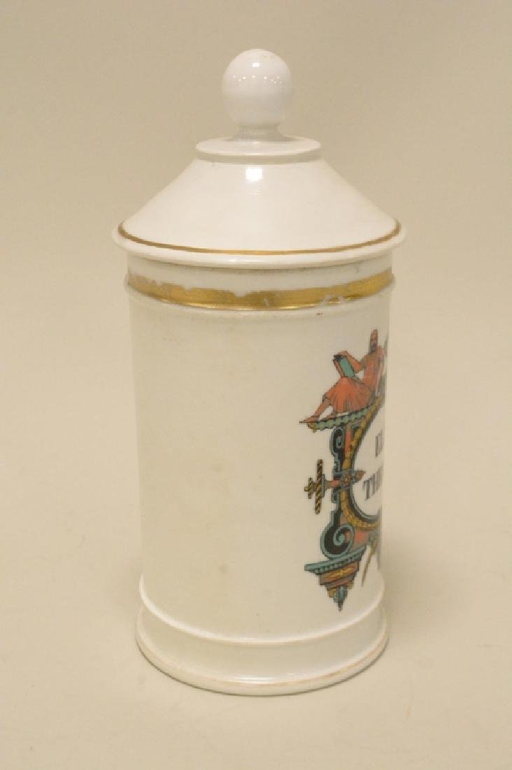 Porcelain Apothecary Jar with LId - 4