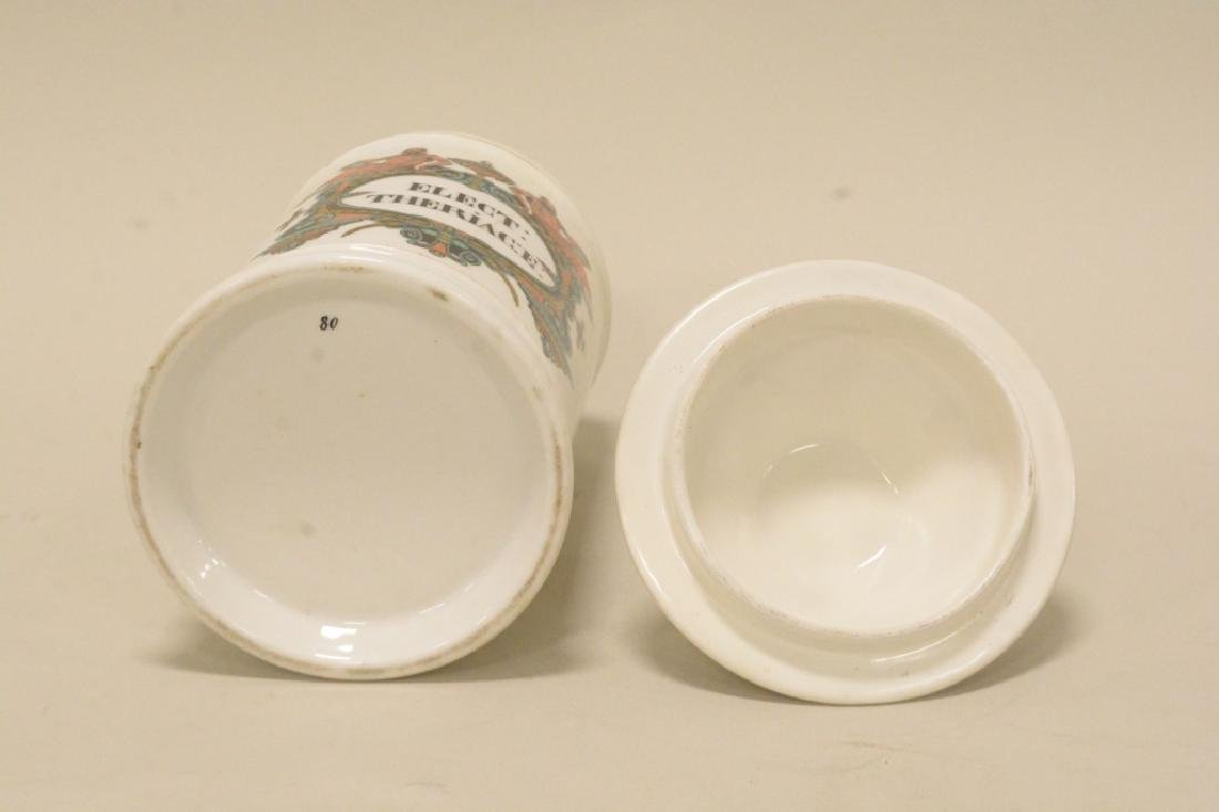Porcelain Apothecary Jar with LId - 5