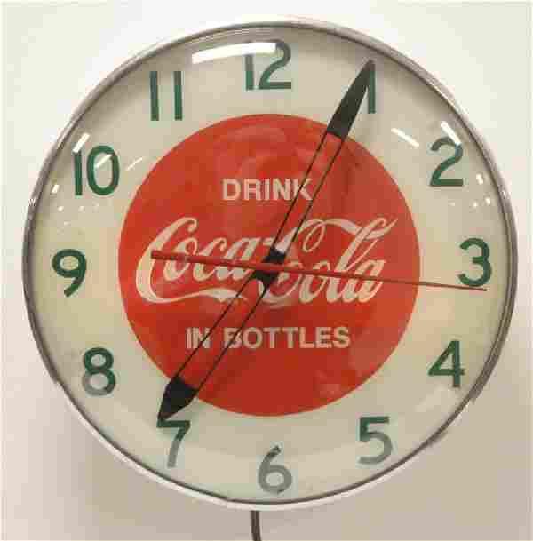 Drink Coca-Cola in Bottles Advertising clock
