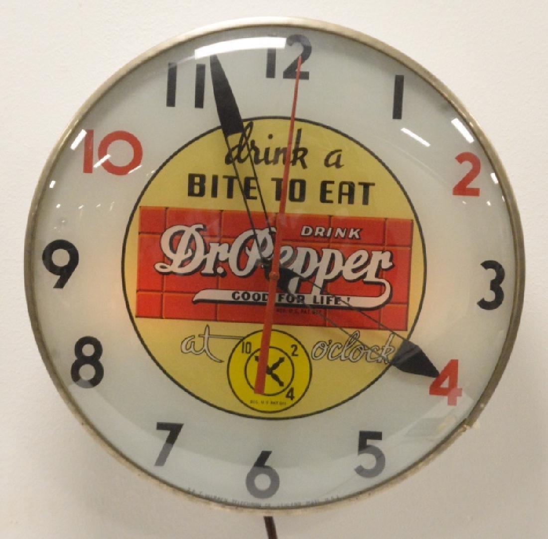 10-2-4 Dr. Pepper Advertising Clock-