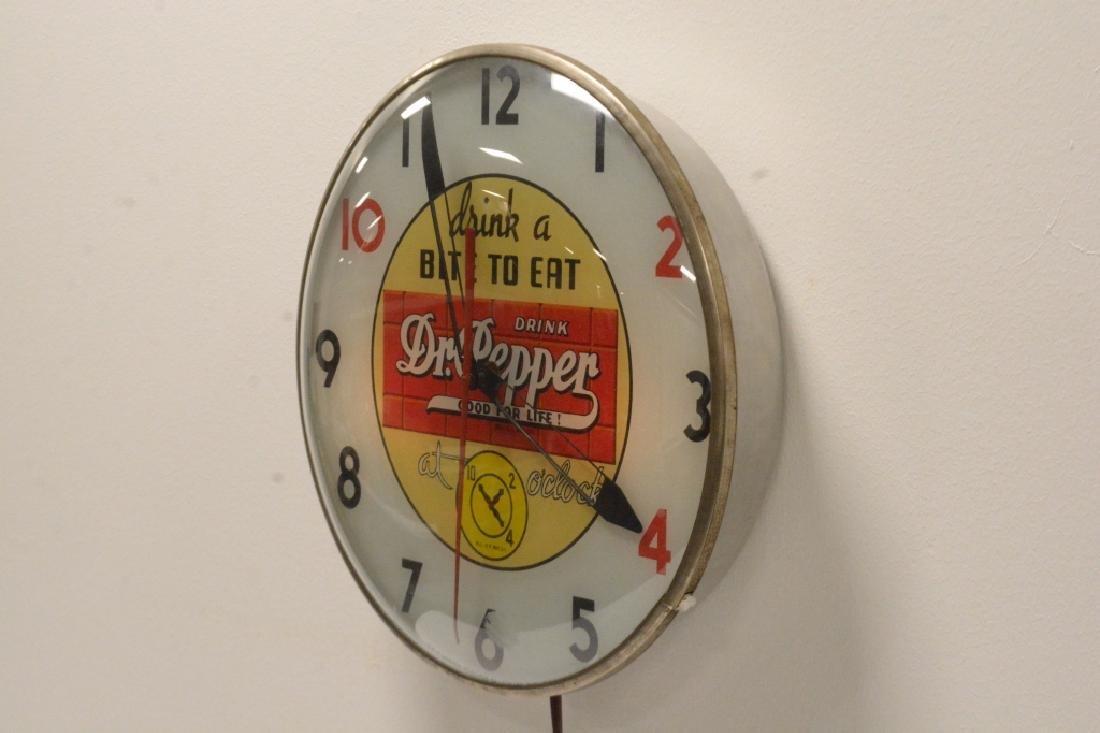 10-2-4 Dr. Pepper Advertising Clock- - 3