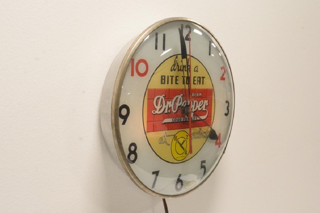 10-2-4 Dr. Pepper Advertising Clock- - 4