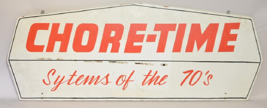 Double Sided Wood Chore-Time Advertising Sign