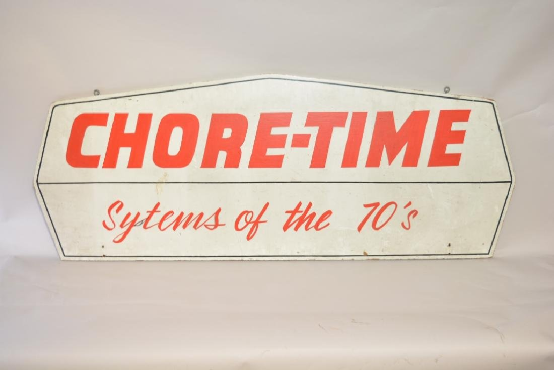 Double Sided Wood Chore-Time Advertising Sign - 2
