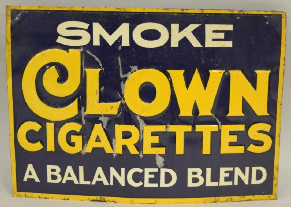 SST Clown Cigarettes Advertising Sign