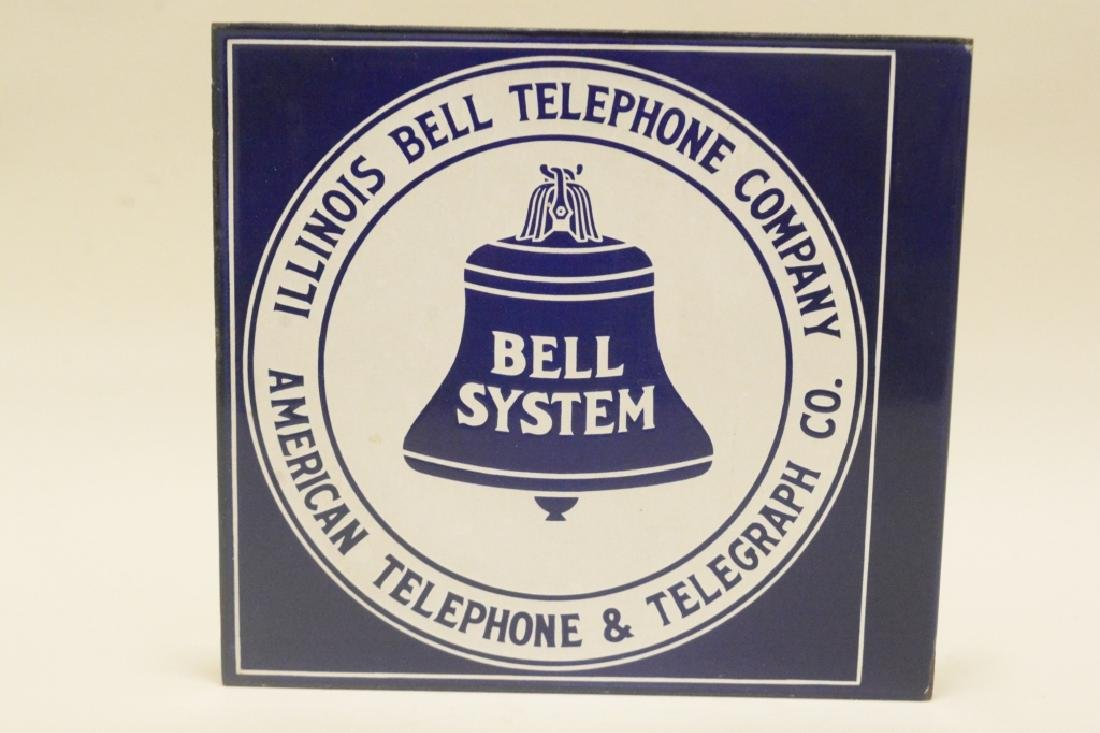 Illinois Bell Telephone Porcelain Flange sign - 2