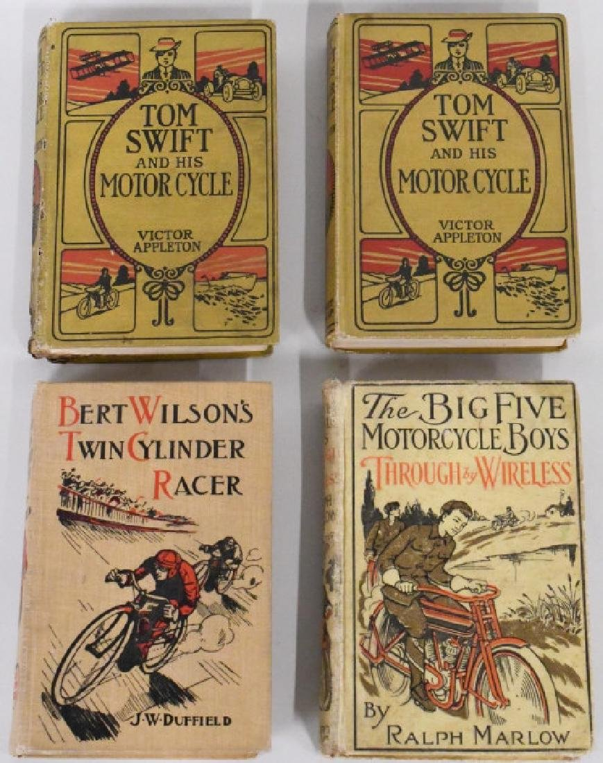 Lot Of 4 Early Motorcycle Books