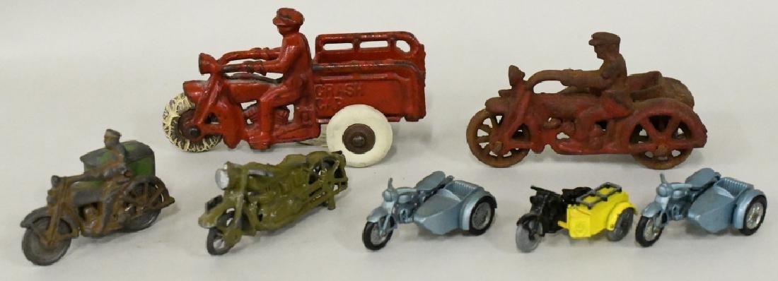 Vintage Metal Motorcycle Toy Lot