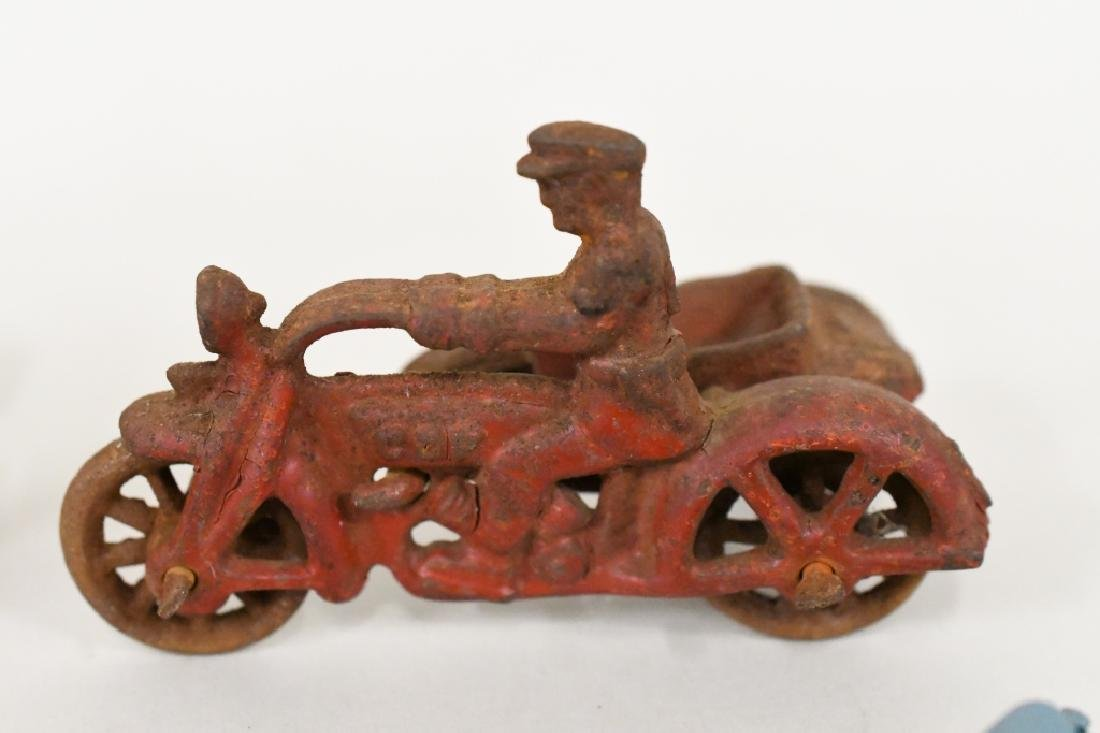 Vintage Metal Motorcycle Toy Lot - 3
