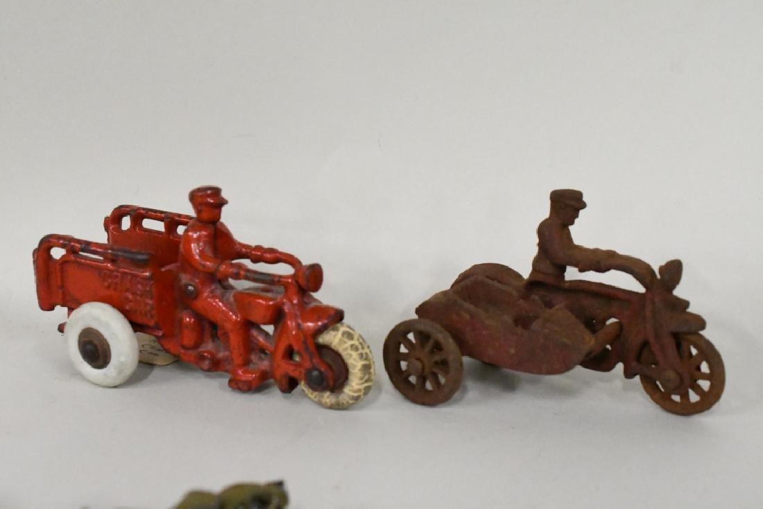 Vintage Metal Motorcycle Toy Lot - 4
