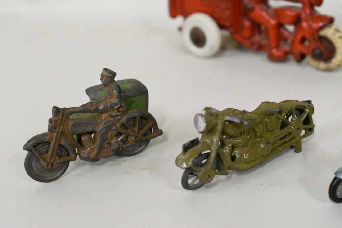 Vintage Metal Motorcycle Toy Lot - 5