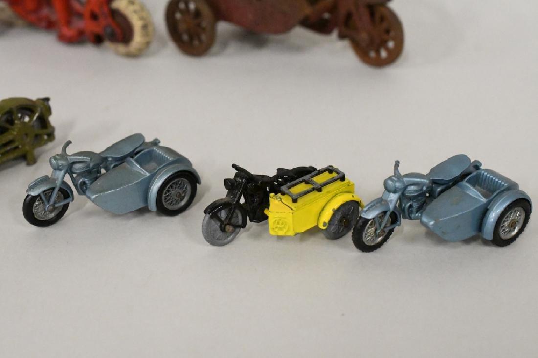 Vintage Metal Motorcycle Toy Lot - 6